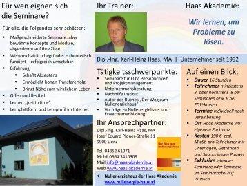 Ihr Ansprechpartner: Haas Akademie - Haas Akademie Lienz