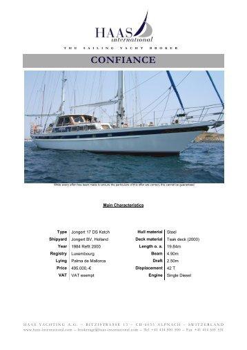 CONFIANCE - Haas International