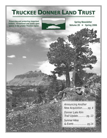 Thank You to Our 2005 Donors - Truckee Donner Land Trust