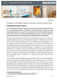Allergikerfreundlich heizen - Haas + Sohn