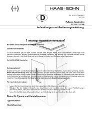 Bedienungsanleitung für HAAS + SOHN Pellet Kaminöfen