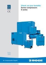 Check out your benefits: Screw compressors S series