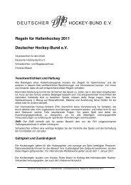 Regeln für Hallenhockey - Schiedsrichter im Deutschen Hockey-Bund