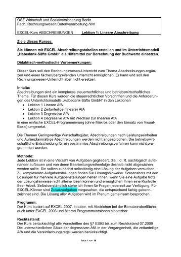 Großzügig Objekt Abschreibung Arbeitsblatt Galerie - Arbeitsblätter ...