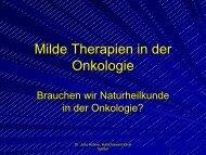 Milde Therapien in der Onkologie - Habichtswald-Klinik