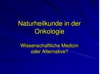 Naturheilkunde in der Onkologie - Habichtswald-Klinik