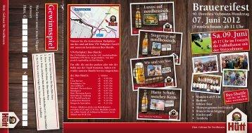 Download des Flyers zum Fest - Hütt-Brauerei