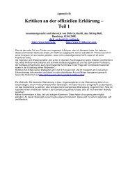 Kritiken an der offiziellen Erklärung – Teil 1 - Habiru.de
