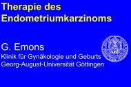 Therapie des Endometriumkarzinoms G. Emons - Habichtswald-Klinik
