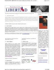 Page 1 of 3 FUNDACION LIBERTAD: Newsletter Fundación ...