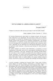 NOTAS SOBRE EL LIBERALISMO CLASICO* Ezequiel Gallo**