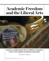 Academic Freedom and the Liberal Arts
