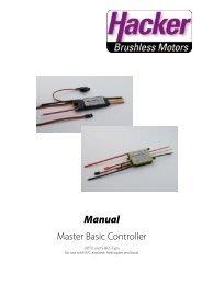 Manual - Hacker Brushless Motors