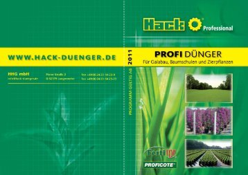 Rasendünger - Hack-duenger.de