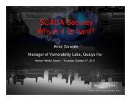 SCADA Security Why is it so hard? . - Hacker Halted