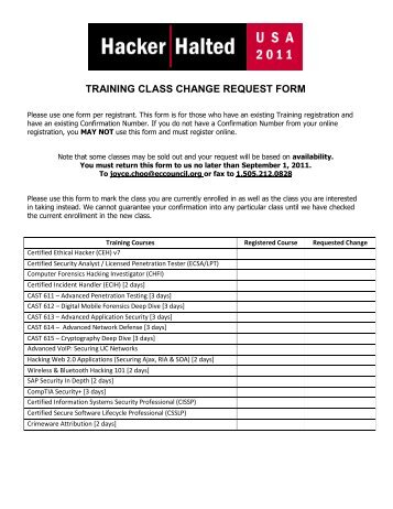 Request For Change Of Program Or Place Of Training
