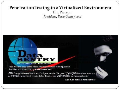 Penetration Testing in a Virtualized Environment - Hacker Halted