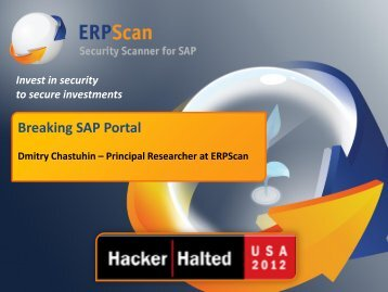 SAP - Hacker Halted