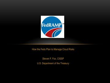 FedRAMP – How the Feds Plan to Manage Cloud - Hacker Halted
