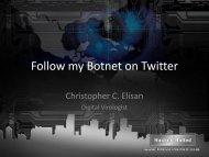 Follow my Botnet on Twitter - Hacker Halted