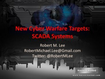 New Cyber Warfare Targets - Hacker Halted