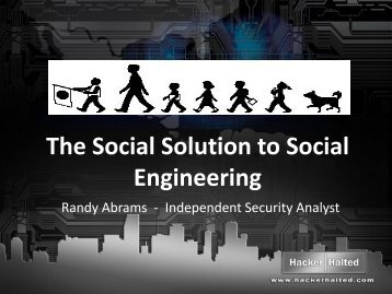 The Social Solution to Social Engineering - Hacker Halted