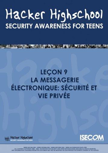 HHS-Leçon 9-La messagerie électronique: sécurité et vie privée