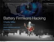 Battery Firmware Hacking - Hacker Halted