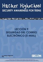 Seguridad del Correo Electrónico - Hacker Highschool