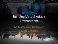 Building Your Own Virtual Attack Lab - Hacker Halted