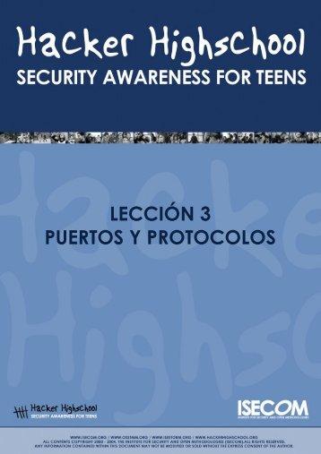 HHS - Lección 3 - Puertos y Protocolos - Hacker Highschool