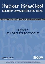 HHS - Leçon 3 - Les ports et protocoles - Hacker Highschool