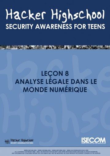 Leçon 8. Digital Forensics - Hacker Highschool