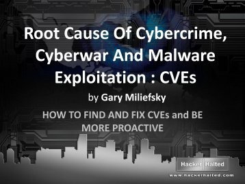 Root Cause Of Cybercrime, Cyberwar And Malware ... - Hacker Halted