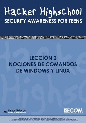HHS - Lección 2 - Windows y Linux - Hacker Highschool