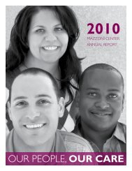 2010 Annual Report: Our People, Our Care - Mazzoni Center