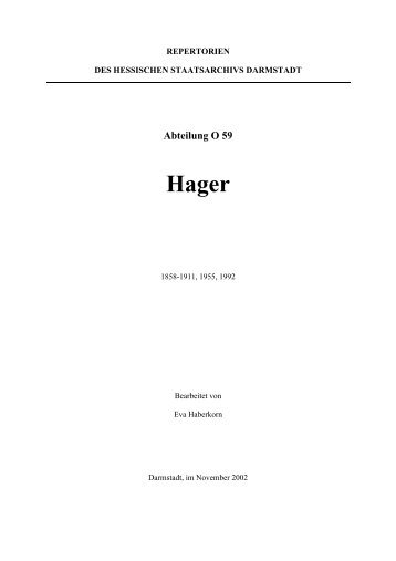 Abteilung O 59 Hager - Hessen
