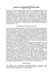 Vorwort zum Bestand 330 Melsungen - Hessisches Archiv ...
