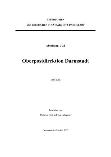 Oberpostdirektion Darmstadt - Hessen
