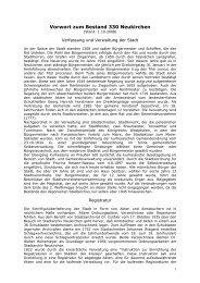 Vorwort zum Bestand 330 Neukirchen - Hessisches Archiv ...