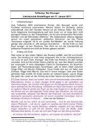 Tellkamp: Der Eisvogel Literaturclub Sindelfingen am 17. Januar 2011