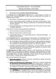 Kurs 2003/2005 Zeitung und Presse in der Schule