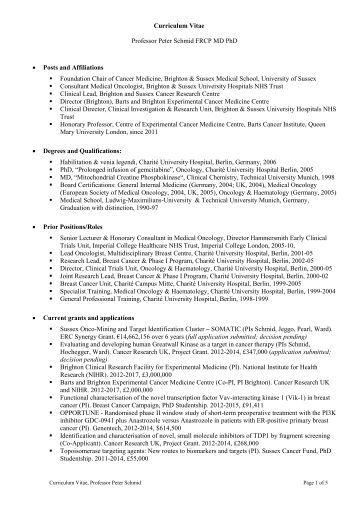 Resume md phd