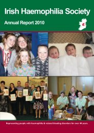 Honorary Secretary's Report - Irish Haemophilia Society