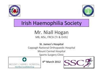 Orthopaedic Management of People with Bleeding Disorders - Irish ...