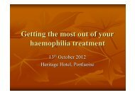 Getting the most from your haemophilia treatment
