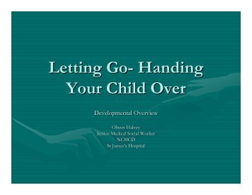 Letting Go- Handing Your Child Over
