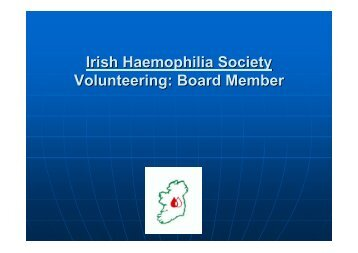 Irish Haemophilia Society Volunteering: Board Member