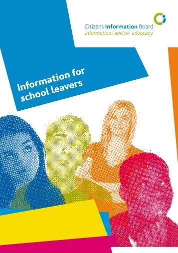 Information for School Leavers 2012 (pdf) - Citizens Information Board