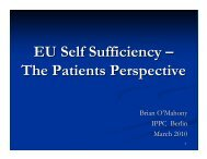 EU Self Sufficiency - Irish Haemophilia Society